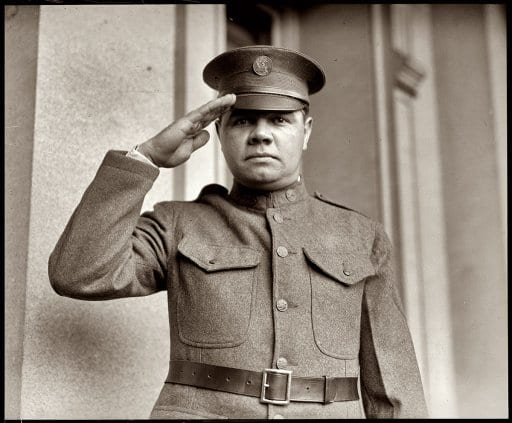 Babe Ruth signs up for the New York National Guard