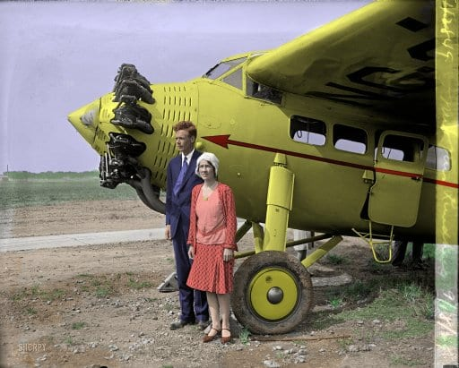 Mr. and Mrs. Lindbergh at Bolling Field (1929)