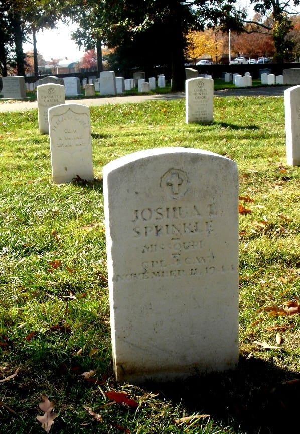 Joshua L. Sprinkle, Arlington National Cemetery