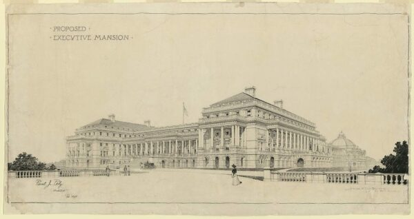 Proposed Executive Mansion sponsored by Mary Foote Henderson