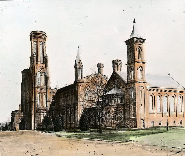 1900 Color Photo of The Smithsonian Castle