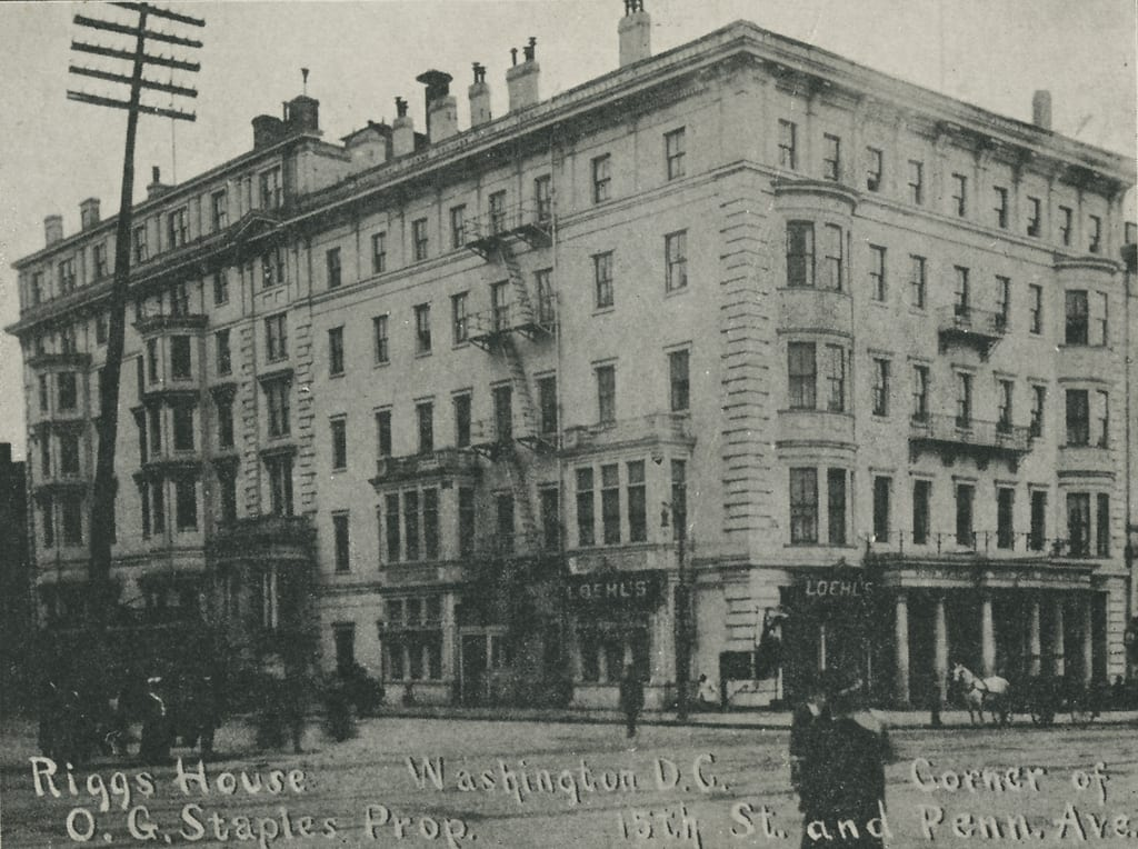 Riggs House at 15th and G St. NW