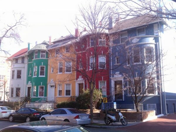 """The """"Rainbow Row"""" of homes on Cliffbourne Pl. NW"""
