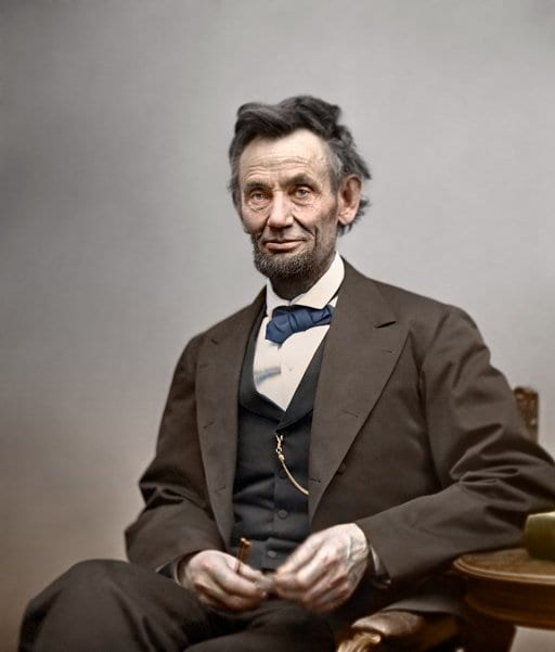 Abraham Lincoln colorized (1865)