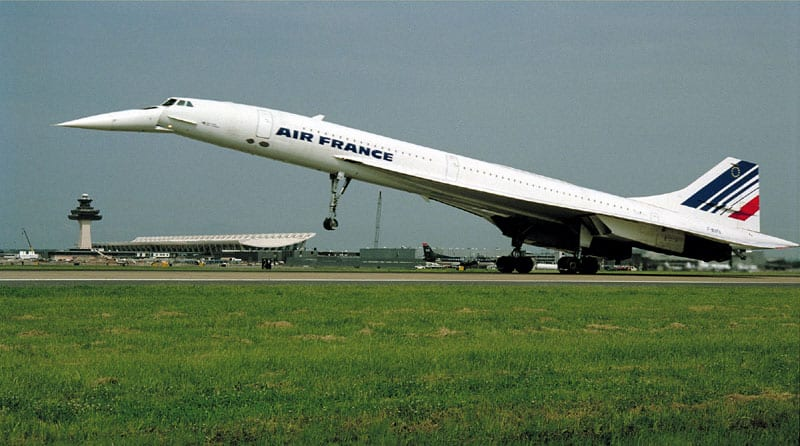 An Air France Concorde landing