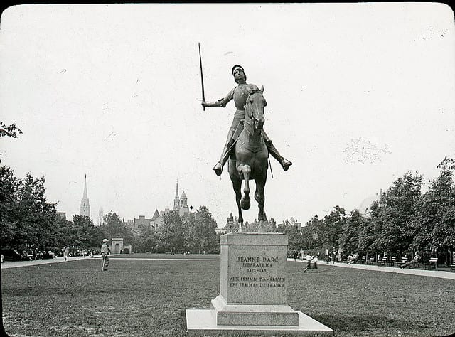 Joan of Arc statue in Meridian Hill Park