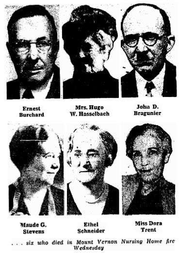 Six victims of the 1961 fire