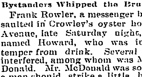 Bystanders Whipped the Brutal Fellow (1892)