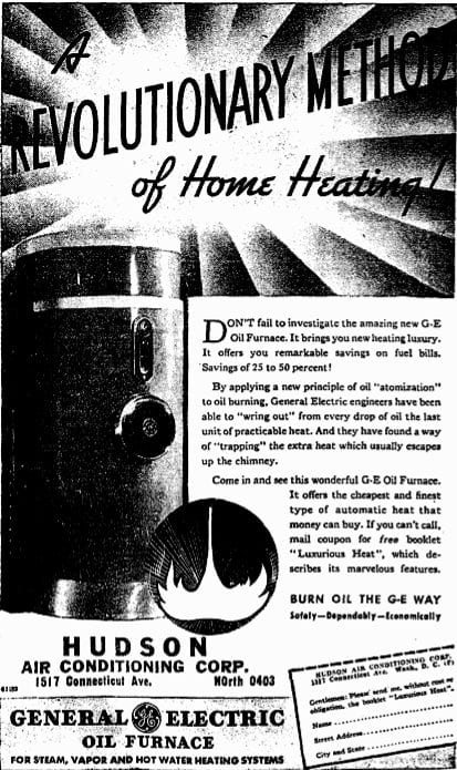 Hudson Air Conditioning Corp. advertisemtn (1936)