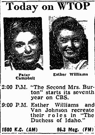 Today on WTOP - January 5th, 1952