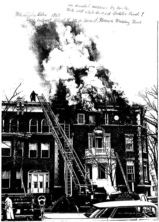 Washington Star photo from 1963 of the fire