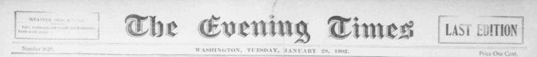 The Evening Times - January 28th, 1902