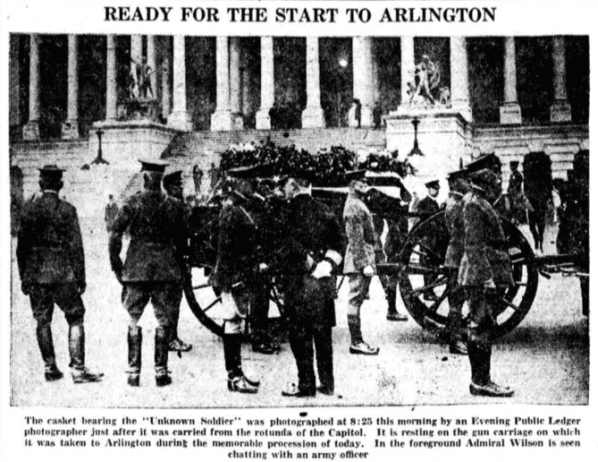 Ready for the start to Arlington - Unknown Soldier