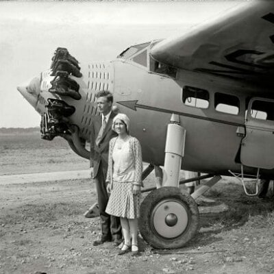 Mr. & Mrs. Lindbergh at Bolling Field (1929)