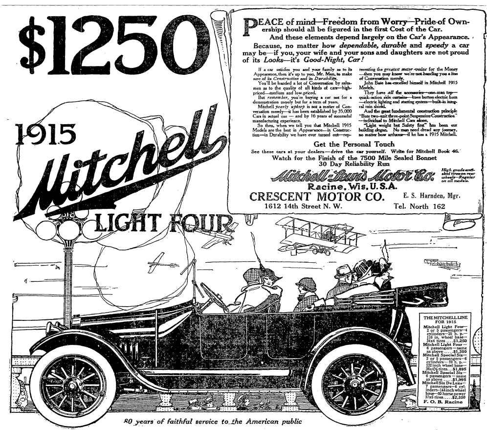 Mitchell-Lewis Motor Company and Crescent Motor Company