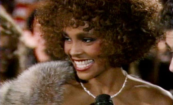 Whitney Houston wins at the 1986 MTV music awards