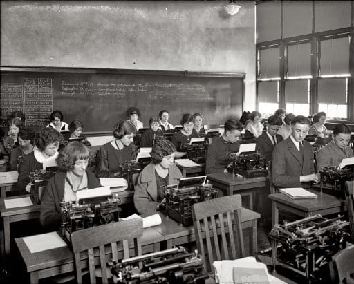 Eastern High School typing class (1920)