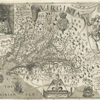 Captain John Smith map - full size (1612)