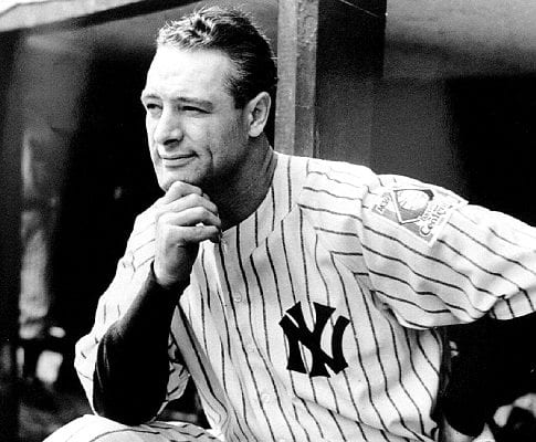 Lou Gehrig in 1939 (NY Daily News)