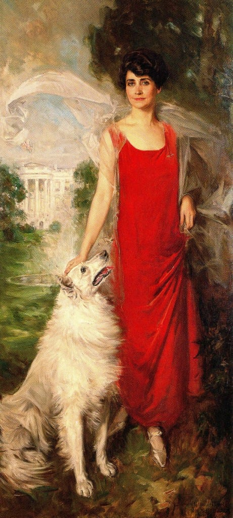 Grace Coolidge - Official White House portrait, 1924 (Wikipedia)