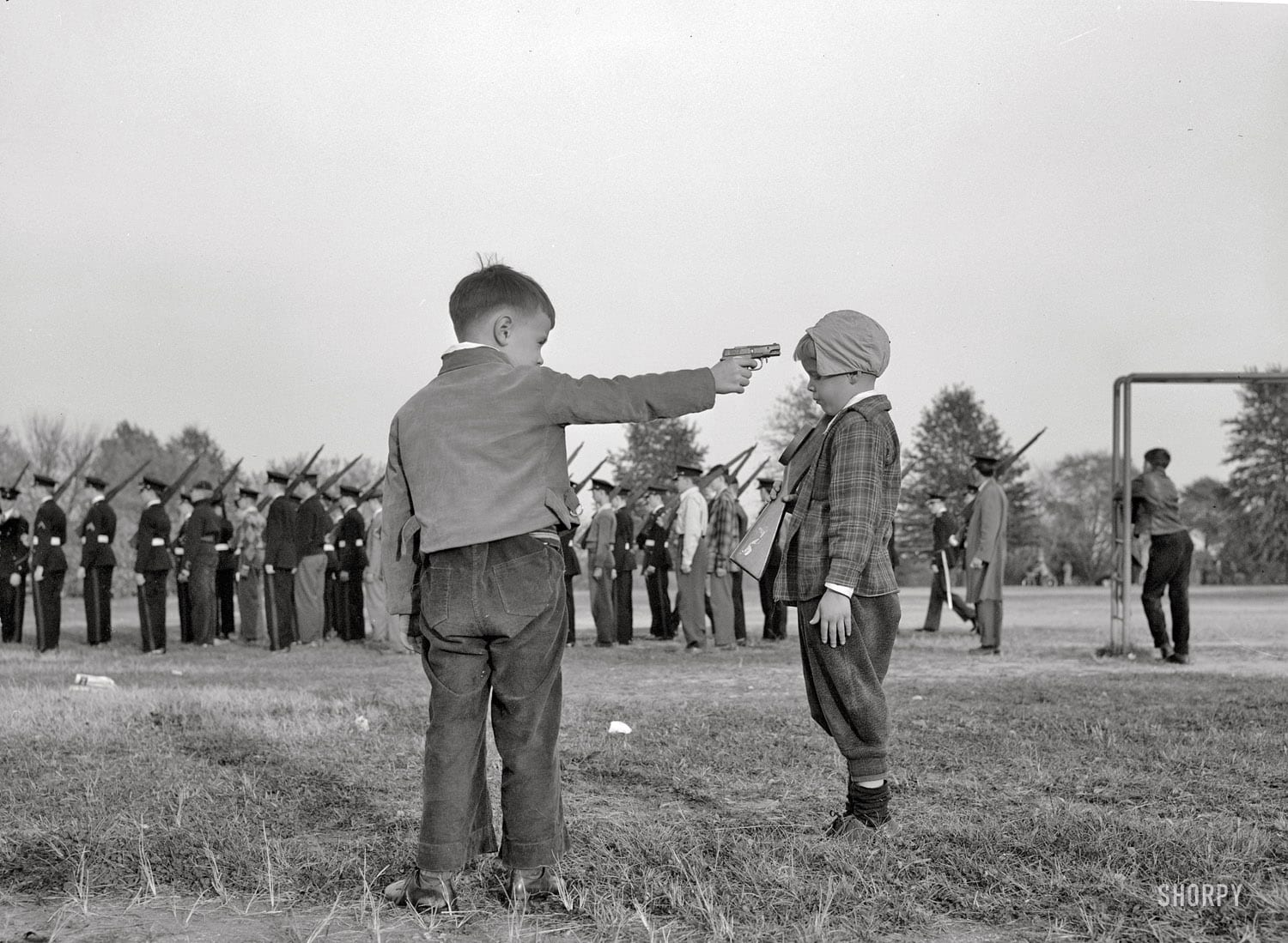 Children and a Mock Execution