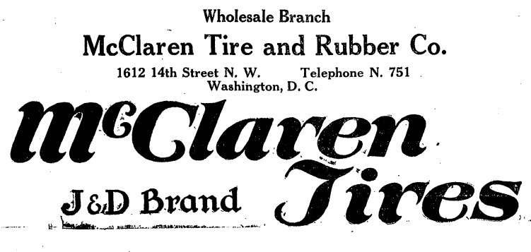 McLaren Tire and Rubber Company advertisement