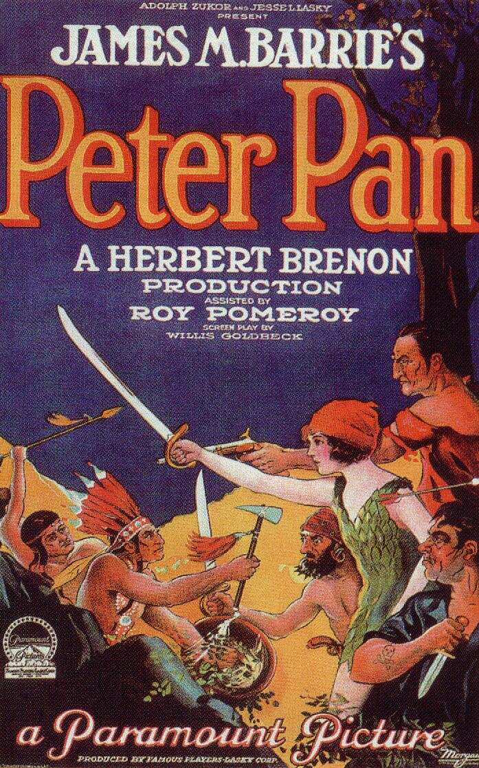 J. M. Barrie's Peter Pan by Paramount Pictures (1924)