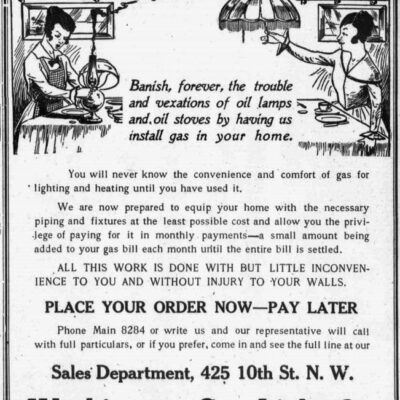Washington Gas Light Co. advertisement (1906)