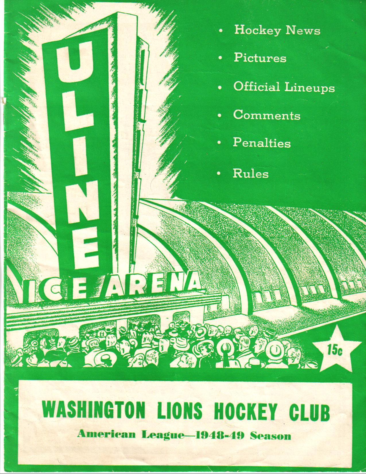 Before Ovechkin: The Washington Lions and Uline Arena