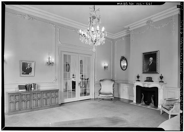 Drawing room, Ambassador's office in 1970 (Library of Congress)