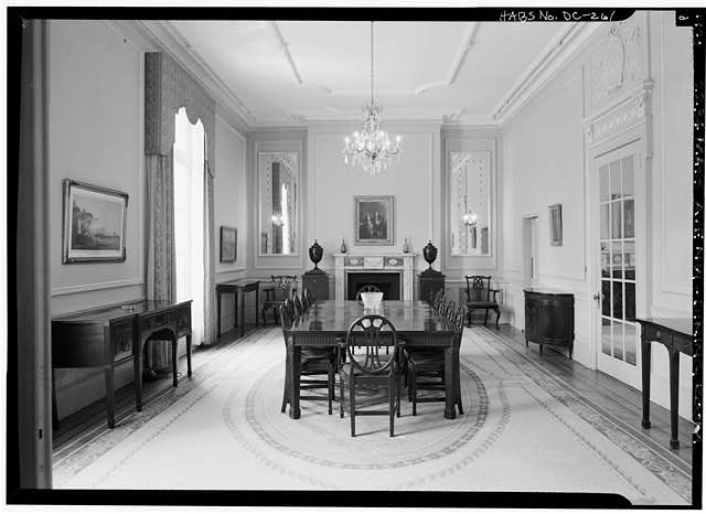 Second floor dining room in 1970 (Library of Congress)