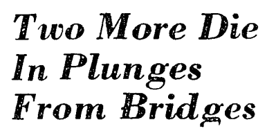 Bridge suicides headline