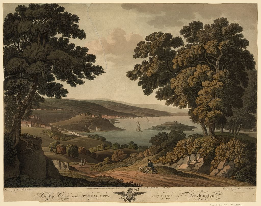 Georgetown view in 1801