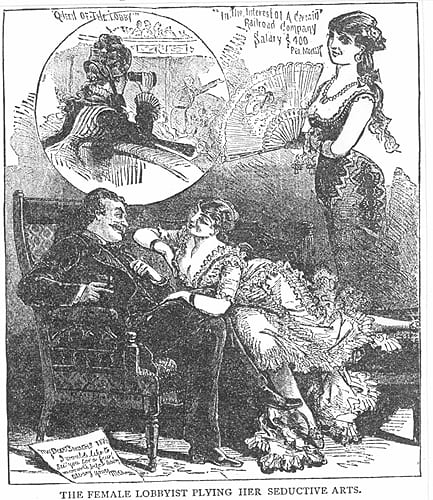 Illustration of a perceived scenario of sexual misconduct in 1883 (Smithsonian)