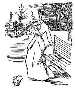 Illustration of Velma Grissom attempting suicide (Washington Post)