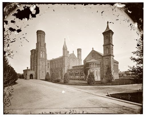 Smithsonian Castle in the 1870s (Shorpy)
