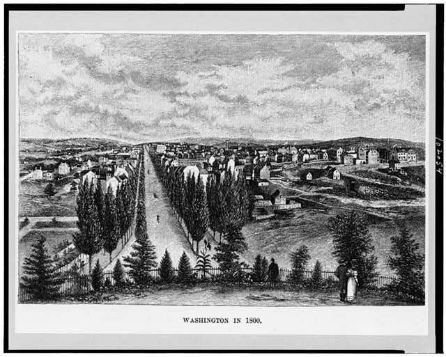 View of Washington in 1800