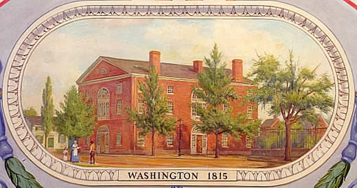 Brick Capitol in 1815 (National Archives)