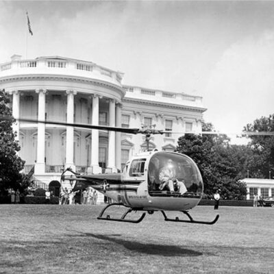 Taking off from the South Lawn (Smithsonian)
