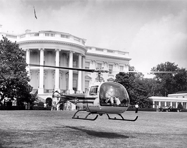 White House South Lawn Helicopter Landing Tests (1957)