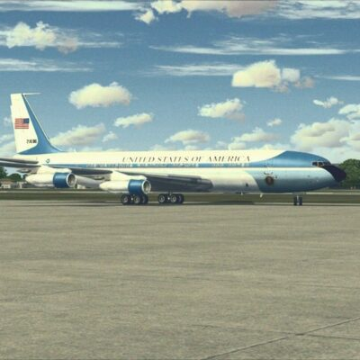 Air Force One lands in Dallas, November 22nd, 1963