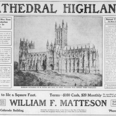 Cathedral Highlands advertisement in the Washington Herald - June 23rd, 1907