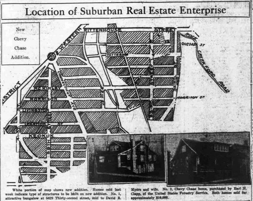 New Chevy Chase addition - December 14th, 1918 (Washington Times)
