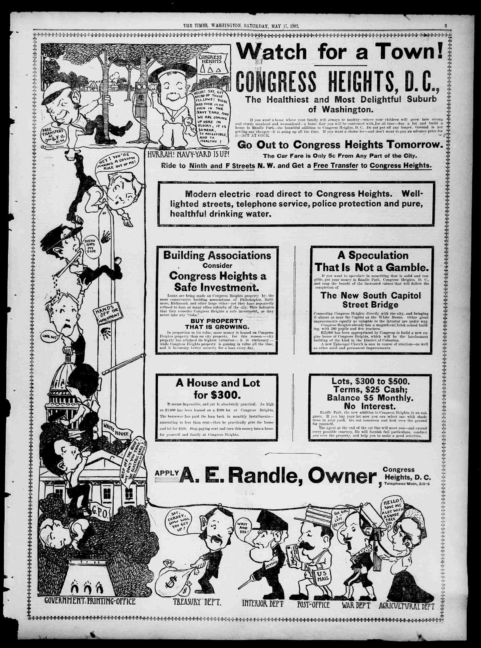 Congress Heights advertisement - May 17th, 1902 (Washington Times)