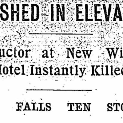 Edward M. Fossler article headline in Washington Post on August 15th, 1903