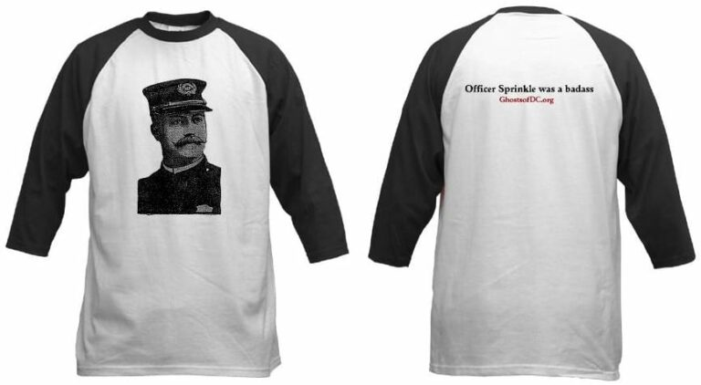 First Ghosts of DC shirt ... Officer Sprinkle was a badass