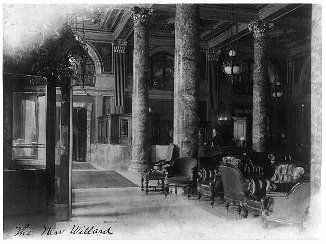Lobby of the Willard in the early 1900s (Library of Congress)