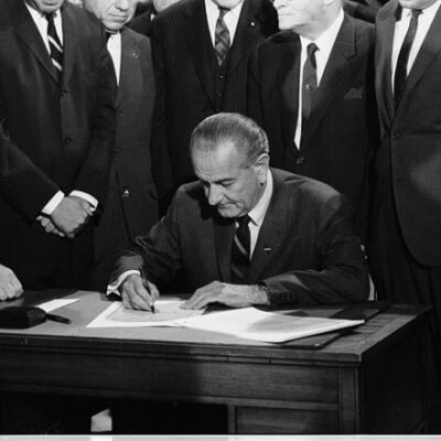 President Johnson signs the 1968 Civil Rights Act - April 11th, 1968