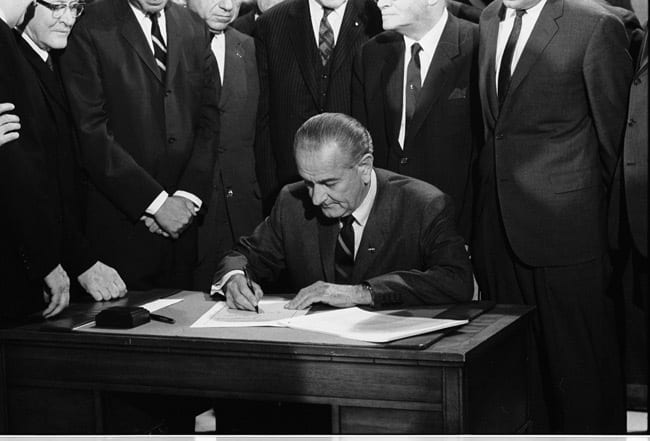 President Lyndon Johnson's Remarks on the 1968 Riots Before Signing the Civil Rights Act