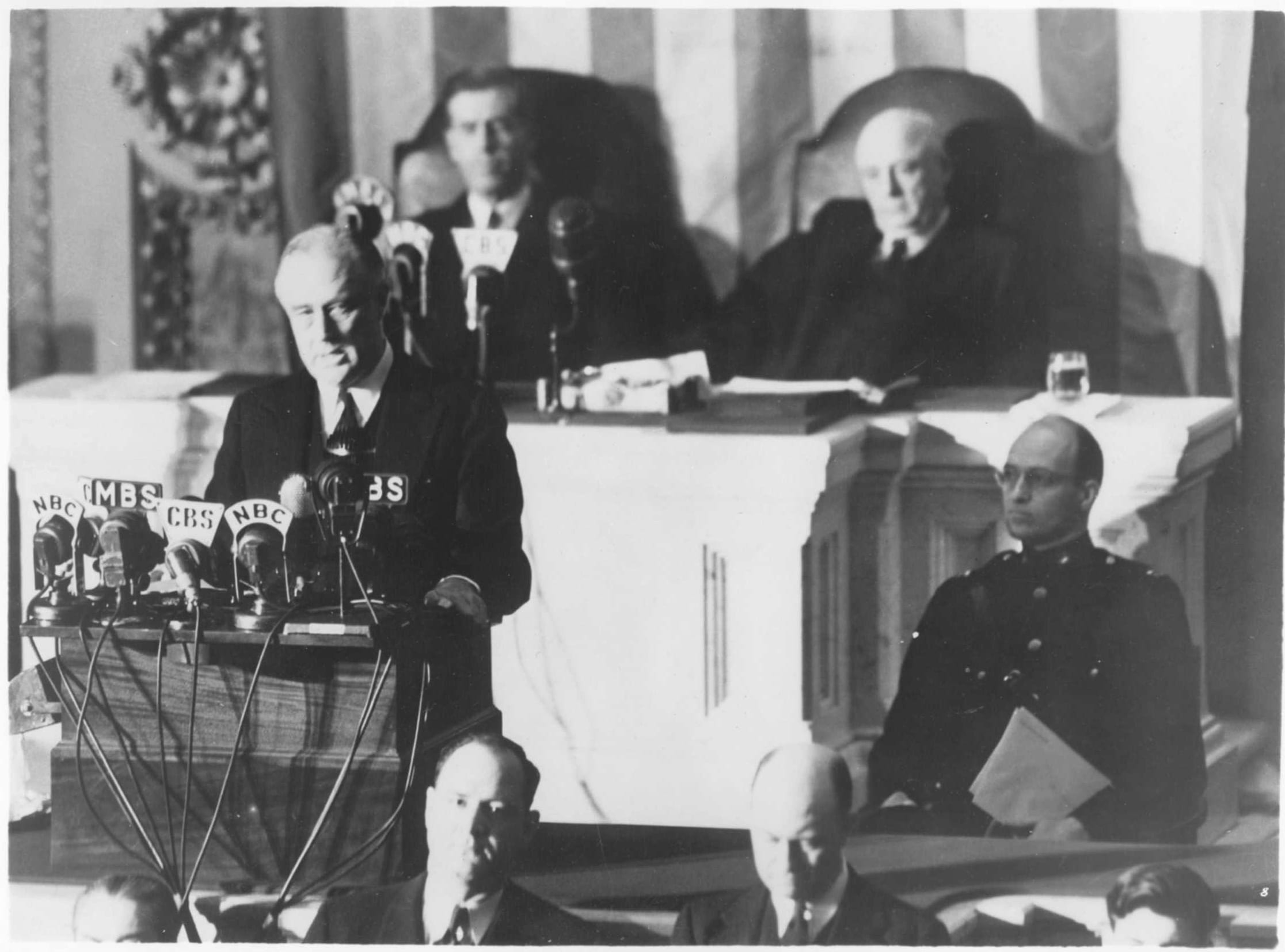 "President Roosevelt's ""Date Which Will Live in Infamy"" speech"